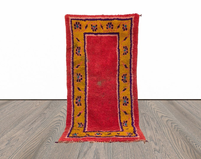 2x5 ft small Moroccan area colorful rug!