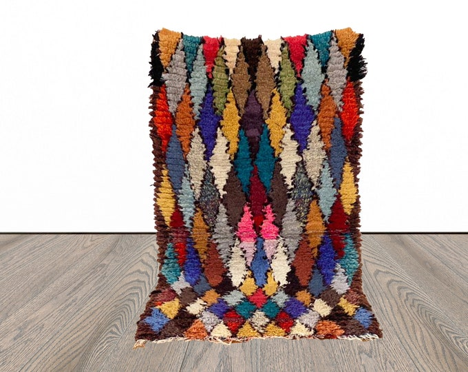 2x5 ft Moroccan colorful small rug!
