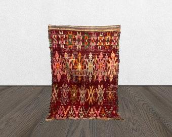 5x7 Moroccan Berber vintage area rug, Morocco Tribal Bohemian burgandy woven rugs 5 x 7, Moroccan abstract Boho accent wool rug