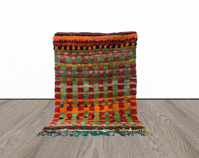4x5 ft colorful Moroccan checkered  rug!