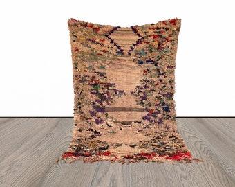 Boucherouite Moroccan area rug 3x6 ft!