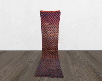 moroccan rug runner, 3x12 old runner rug, berber rug runner, vintage runner rug.
