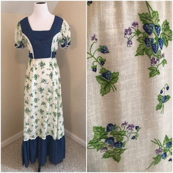 Vintage Prairie Dress | 70s Prairie Dress | Hippie