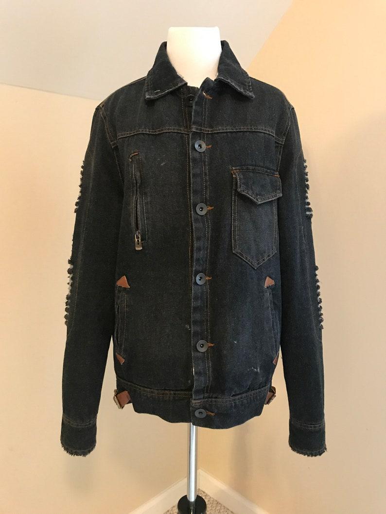 Vintage Denim Jacket 90s Jean Jacket Grunge Jacket