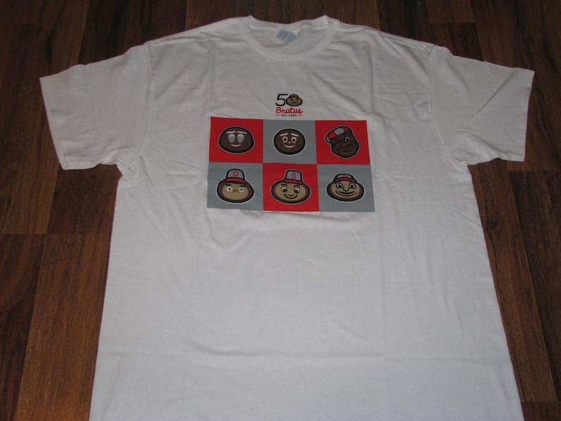 50 years of Brutus the Buckeye T-shirt