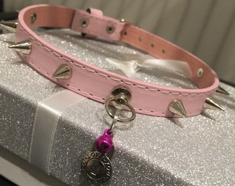 PREMADE: 13-15 inch Spiked Petplay Collar
