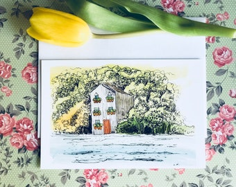 """Set of 10 cards - Lambertville House 4"""" x 6"""" Note Cards"""