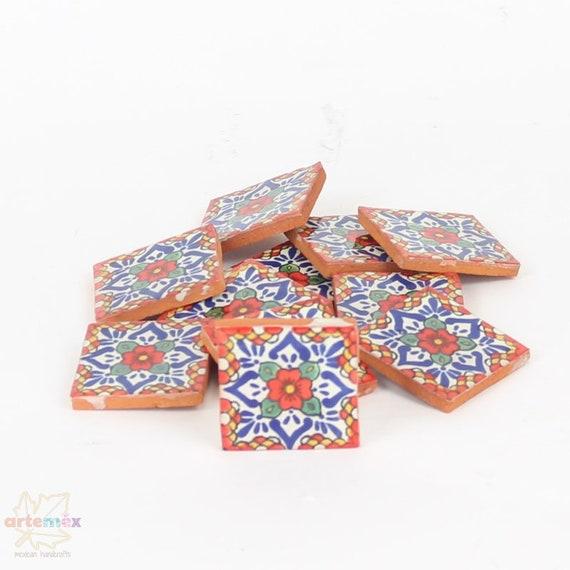 25 Mexican Loteria Talavera Backsplash CERAMIC Tiles 4x4