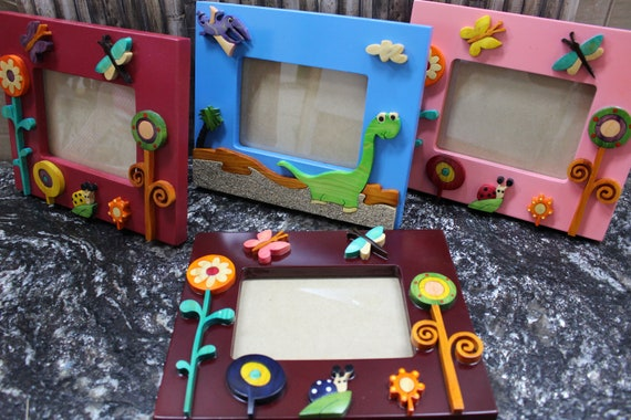 Childrens Wooden Picture Frames Photo Frames For Kids Etsy