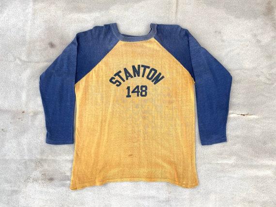 1950s 50s 3/4 sleeve Rayon Durene Baseball Jersey