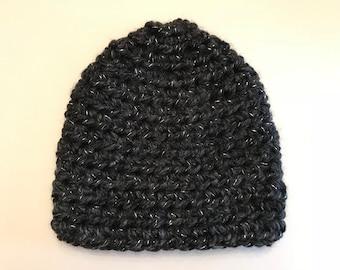 Gray Crochet Beanie