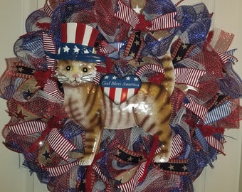 4th of July Cat Wreath