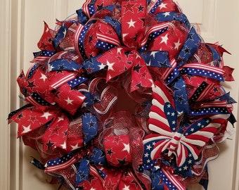 4th of July Butterfly Wreath