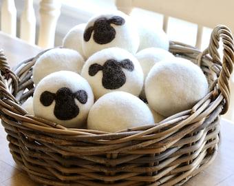 Dryer Balls - Wool Laundry Balls - Anti-Static Wool Dryer Balls - 3 Pack - XL Wool Balls - Natural - Eco Friendly - Housewarming Gift Idea