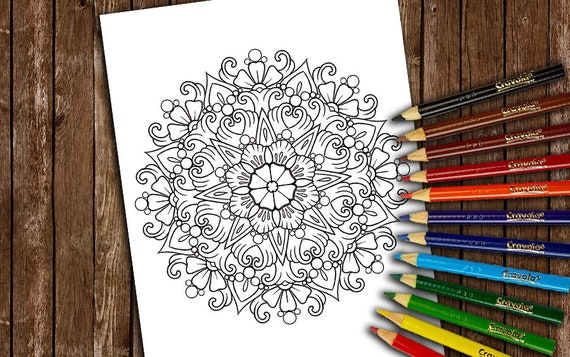 Mermaid Mandala Coloring Books Pages Adult