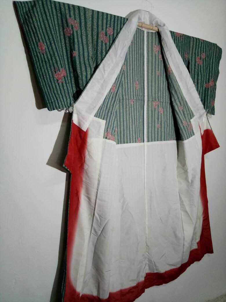 Authentique Kimono japonais, affiche complet avec Design Vintage gilet, japonais, Kimono Casual, gilet, Vintage pyjama, dissimulation 8ef998