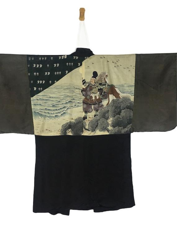 Vintage 90's Japanese Samurai Haori , Casual Short