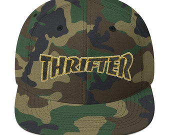 02b0c03a7c024f Thrifter Hat - Yupoong 6089M Wool Blend Snapback in Camo or Black