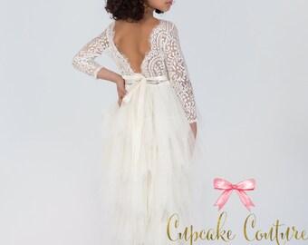 Ivory Flower Dress