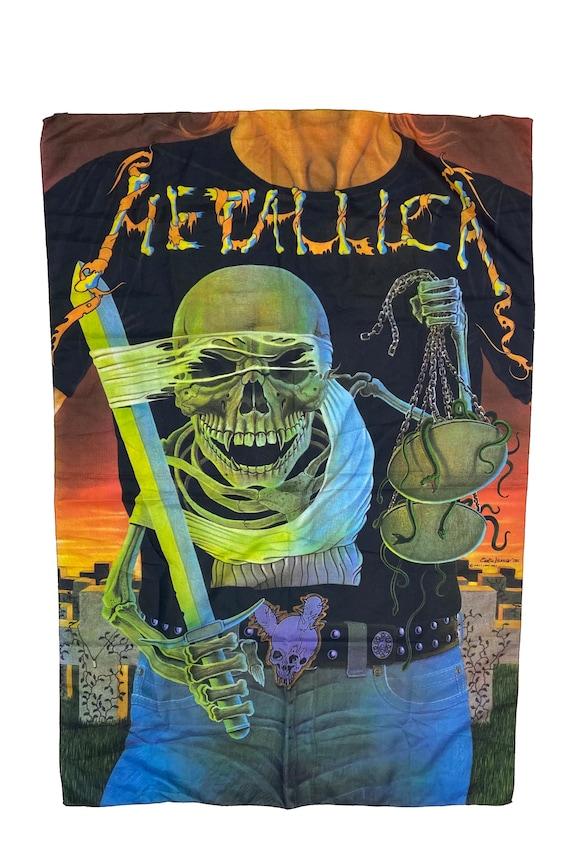 Vintage Metallica 1992 Enrico Valenza Banner Satin
