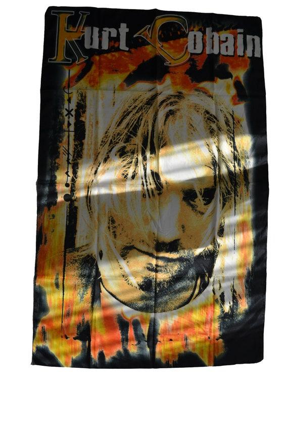 Vintage Bootleg Kurt Cobain Nirvana Banner Poster