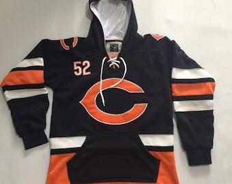 5651734ea4e Khalil Mack Chicago Bears #52 Custom Heavyweight Hoodie