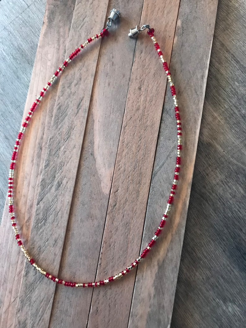 Red and Gold choker