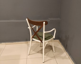 The Metal Thonet Chair, Dining Chairs, Kitchen Chairs, Upholstered, Handicraft by ivachairs