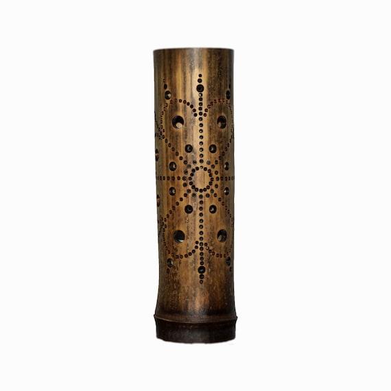 Handgemachte Blume Mandala Geschnitzt Bambus Lampen Etsy