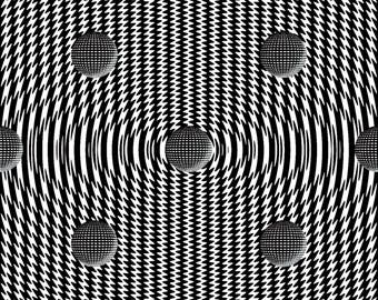 Abstract pattern black and white