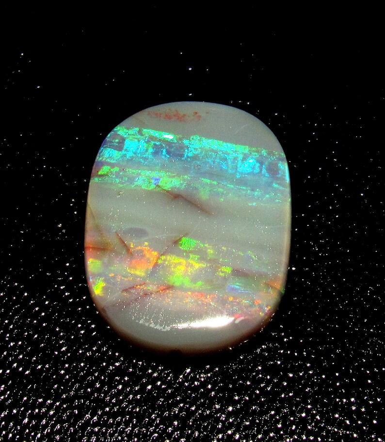 100/%Natural Australian Opal Gemstone Very Nice Oval Shape Multi Fire Cabochon  Loose Gemstone Size Approx 17MM X 13MM X 4MM