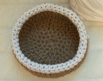 Hand crocheted bowl or basket
