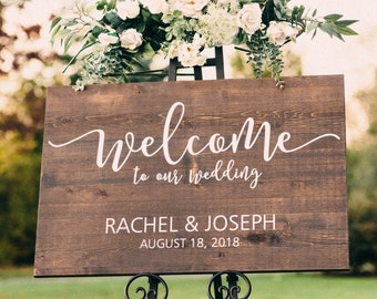 Wedding Welcome Sign.Wood Wedding Sign Etsy