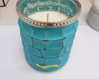 Blue Handmade Soy Candle