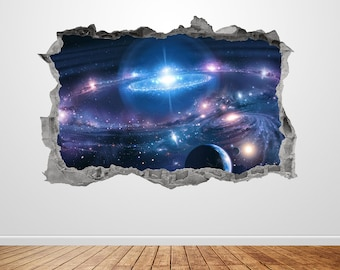 A108 Northern Lights Iceland Space Wall Decal Poster 3D Art Stickers Vinyl Room