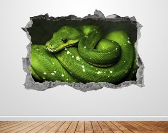 Python Snake Eye Animal Wall Art Stickers Mural Decal Home Office Decor EH14