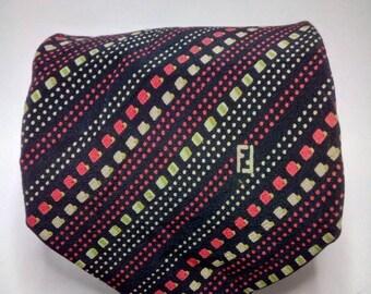 c1cc65a82ffd Vintage Fendi silk pattern tie