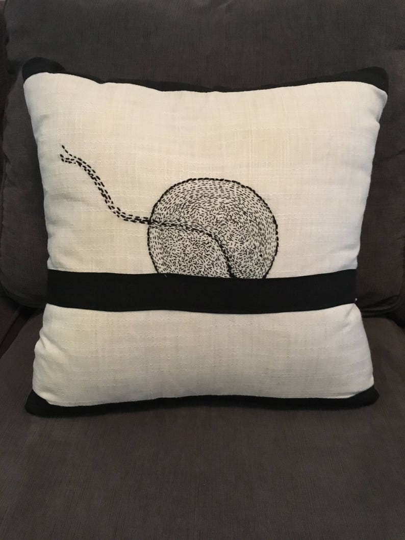 Home Decor Hand Embroidered Decorative Pillows Black And White Designs