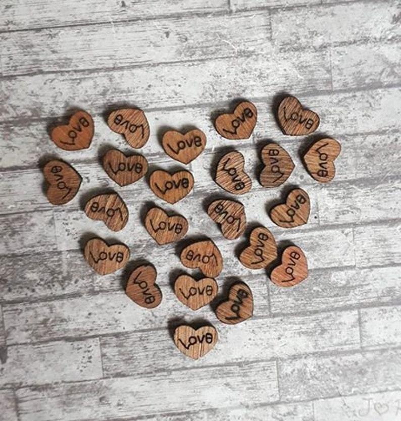 Embossed Metallic  Purple Love Heart Confetti Party Table Decoration Valentines