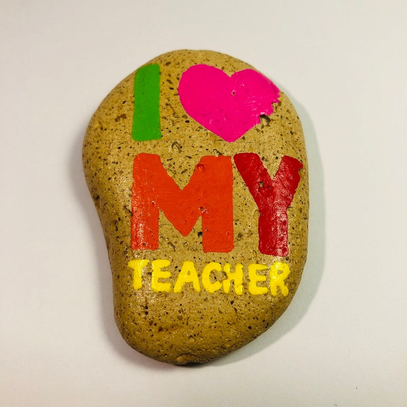 Appreciation gifts for the end of term Personalized Teacher Gift I Love My Teacher MADE TO ORDER