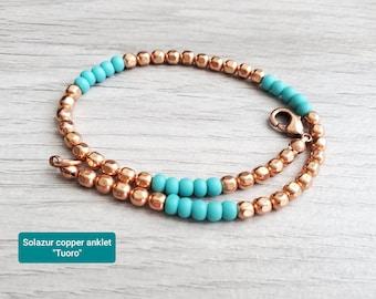 "Solazur copper anklet ""Tuoro"""