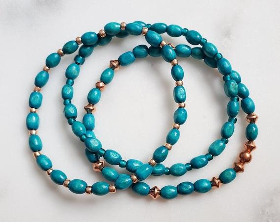 "Solazur bracelet set ""Tealy"""