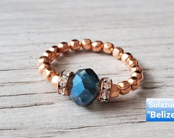 """Solazur rings """"Belize"""" and """"Iceland"""""""