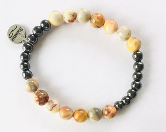 Agate and grey Hematite bracelet (Ambero collection)