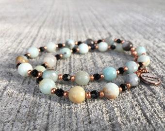 Amazonite and Copper necklace - Copaza