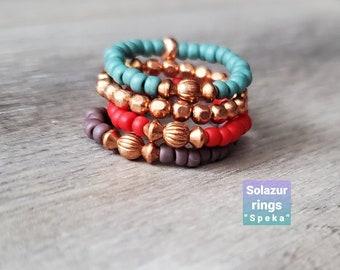 "Solazur rings ""Speka"""