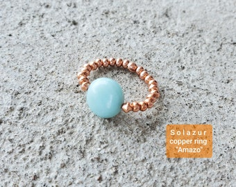 """Amazo"" copper ring"