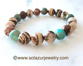 Jasper bracelet - Moka breeze