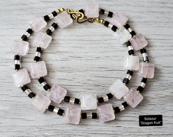 """Solazur necklace """"Dragon fruit"""""""