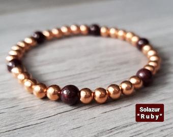 "Solazur copper bracelet ""Ruby"""